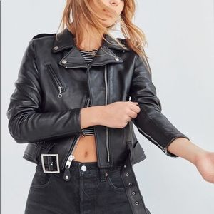 SCHOTT Women's Cropped Perfecto Leather Jacket